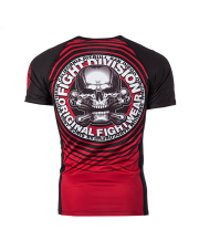RASHGUARD PIT BULL CIRCLE RED