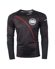 RASHGUARD PIT BULL STRIPES RED