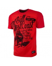 T-SHIRT KOSZULKA PIT BULL DOGGY RED
