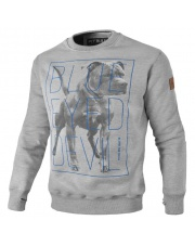BLUZA PIT BULL BLUE EYED DEVIL 18 '2 CREWNECK GREY BED