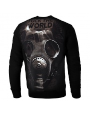 BLUZA PIT BULL FUCK THE WORLD 18 CREWNECK BLACK