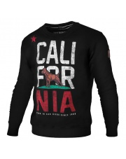 BLUZA PIT BULL CALIFORNIA FLAG CREWNECK BLACK