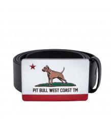 PASEK SKÓRZANY PIT BULL CALIFORNIA DOG