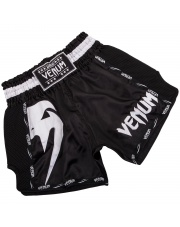 Spodenki Muay Thai VENUM GIANT SHORTS BLACK WHITE