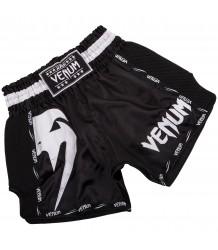 Spodenki Muay Thai VENUM GIANT SHORTS BLACK WHITE