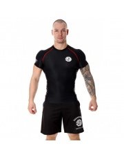 RASHGUARD POUNDOUT BASE  SHORT SLEEVE BLACK