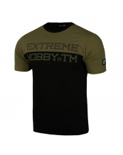T-SHIRT KOSZULKA EXTREME HOBBY BLOCK STRIPED KHAKI