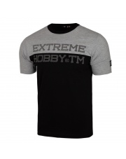 T-SHIRT KOSZULKA EXTREME HOBBY BLOCK STRIPED GREY