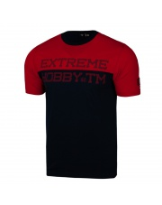 T-SHIRT KOSZULKA EXTREME HOBBY BLOCK STRIPED RED