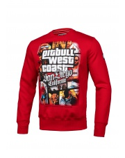 BLUZA PIT BULL MOST WANTED CREWNECK RED