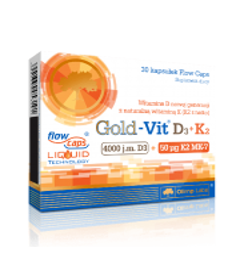 OLIMP GOLD VIT D3+K2 30kaps WITAMINY ZDROWE KOŚCI