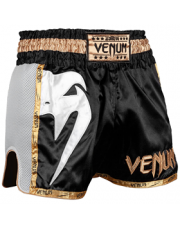 SPODENKI MUAY TAHI VENUM GIANT SHORTS BLACK/WHITE/GOLD