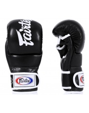 RĘKAWICE MMA FAIRTEX FGV18 SUPER SPARRING BLACK/WHITE