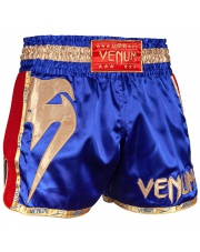 SPODENKI MUAY THAI VENUM GIANT SHORTS BLUE /GOLD