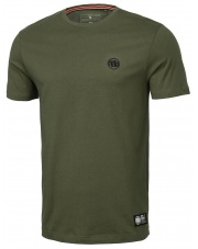 T-SHIRT KOSZULKA PIT BULL SLIM FIT SMALL LOGO OLIVE