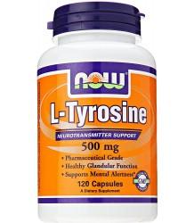 NOW FOODS L-TYROSINE – L-TYROZYNA 500 MG – 120 KAPSUŁEK ŻELOWYCH
