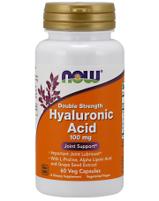 NOW FOODS HYALURONIC ACID HIALURONOWY 100 MG - 60 VCAPS