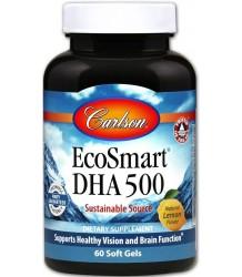 CARLSON LABS EcoSmart DHA lemon 60 softgels