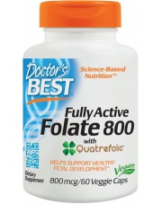 Doctor's Best Fully Active Folate 800 with Quatrefolic 60 vcaps