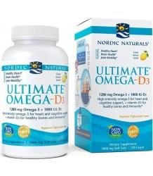 Nordic Naturals Ultimate Omega-D3 1280mg Lemon - 120 solfgels