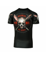 RASHGUARD PIT BULL BUSINESS AS USUAL SHORTSLEEVE